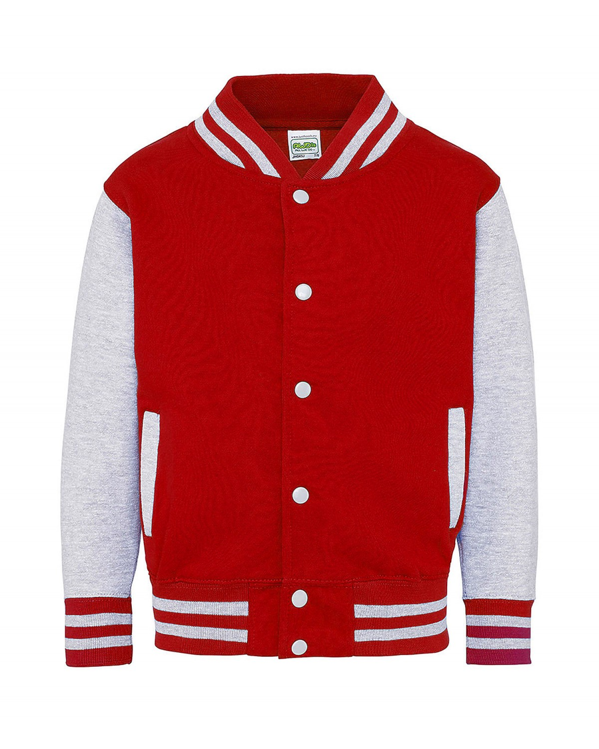 JHY043 AWDis Fire Red/Heather Grey