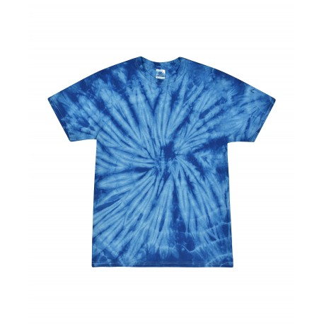T1000 Colortone T1000 Adult Tie Dye Tee SPIDER ROYAL