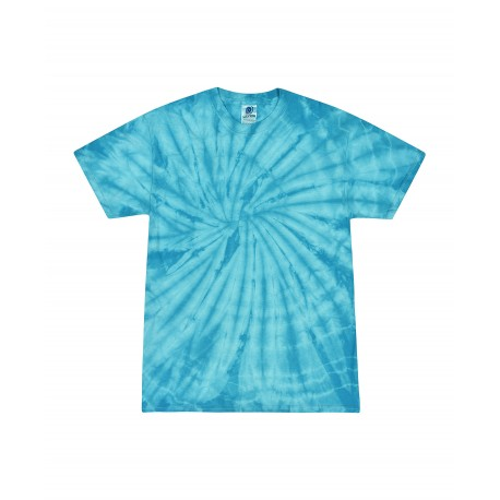 T1000 Colortone T1000 Adult Tie Dye Tee SPIDER TURQUOISE