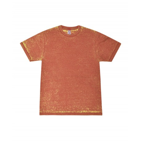 T1350 Colortone T1350 Acid Wash Burnout Tee RUSTY RED