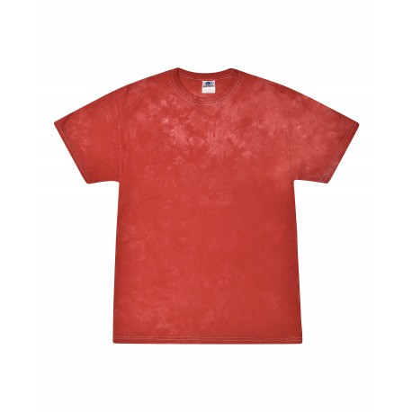 T1390 Colortone T1390 Adult Crystal Wash Tie Dye RED