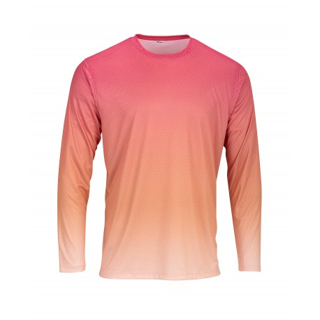 SM0225 Paragon SM0225 ParagonXP Barbados Adult Full Sublimated Long Sleeve Performance Tee - Gradient Print Red/Light Orange