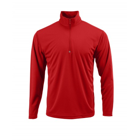 SM0350 Paragon SM0350 Malibu Adult Performance 1/4 Zip Pullover RED