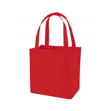 Q127200 Q-Tees Q127200 Tote bag with PL Bottom RED