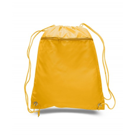 Q135200 Q-Tees Q135200 Cinch Up Polyester Backpack GOLD