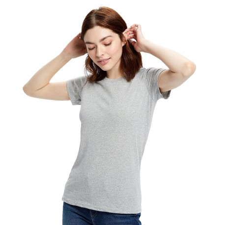 US0100R US Blanks US0100R Womens S/S Recycled Crew SMOKE