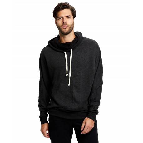 US0897 US Blanks US0897 Adult French Terry Snorkel Fleece Pullover Tri-Charcoal