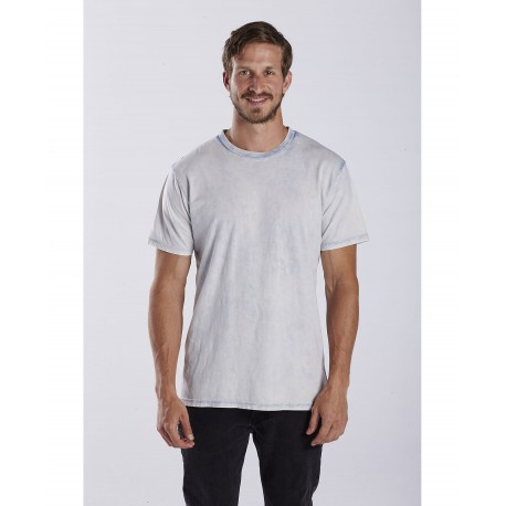US2000GS US Blanks US2000GS Adult Seam Wash Garment Dyed Tee Faded Blue