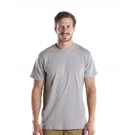 US2000R US Blanks US2000R Mens S/S Recycled Crew Neck SMOKE