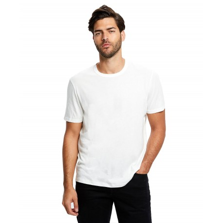 US4000GD US Blanks US4000GD Mens Pima Crew Garment Dyed OFF WHITE