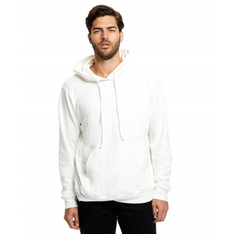 US4412 US Blanks US4412 Mens Cotton Pullover Hoody WHITE