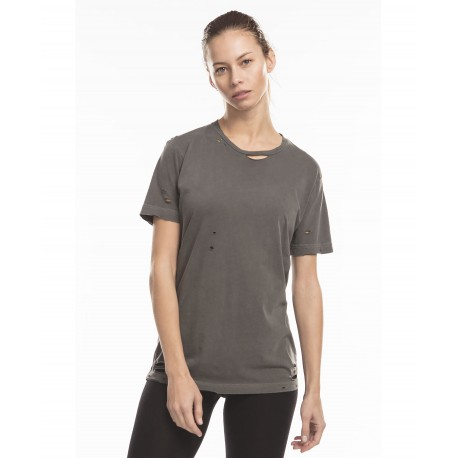 US5524GD US Blanks US5524GD Unisex Pigment Dyed Destroyed Tee BLACK