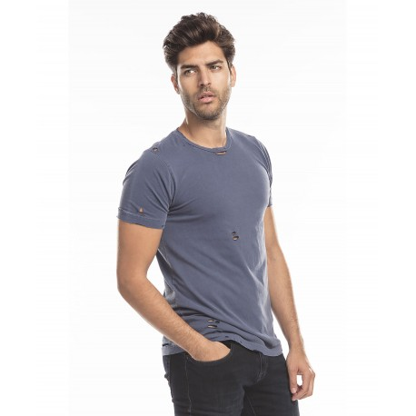 US5524GD US Blanks US5524GD Unisex Pigment Dyed Destroyed Tee NAVY