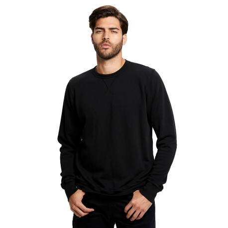US8000GD US Blanks US8000GD Mens Garment Dyed Long Sleeve Pullover BLACK