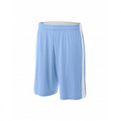 """A4 A4NB5284 Youth Reversible Side Stripe 8"""" Short"""