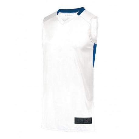 LA6918 LAT Apparel LA6918 Men's Long Sleeve Fine Jersey Tee White/Titanium