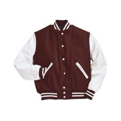 BELLA + CANVAS 3710 Piped Fleece Cadet Collar Jacket
