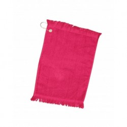 Q-Tees Q0T100CG Fingertip Towel with Fringed End and Corner Grommet