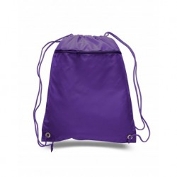 Q-Tees Q135200 Cinch Up Polyester Backpack