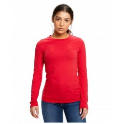 American Apparel AA8379W Women's Cotton Spandex Long Sleeve Crop Top