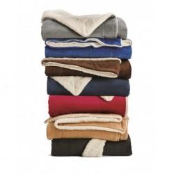 Alpine Fleece 8726 Oversized Mink Sherpa Blanket