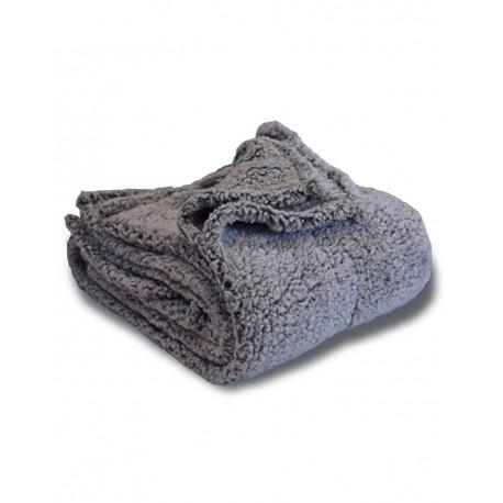 8729 Alpine Fleece 8729 Frosted Sherpa Blanket GREY