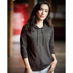 Anvil 887L Women's Lightweight Hooded Long Sleeve T-Shirt