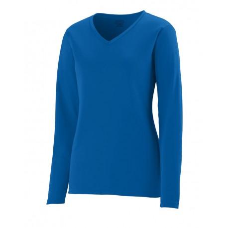 1788 Augusta Sportswear 1788 Women's Long Sleeve Wicking T-Shirt BLACK
