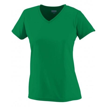 1791 Augusta Sportswear 1791 Girls' Wicking T-Shirt COLUMBIA BLUE