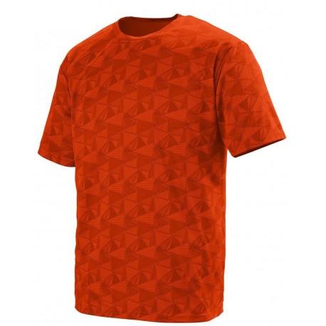1795 Augusta Sportswear 1795 Elevate Wicking T-Shirt Orange/ Black Print