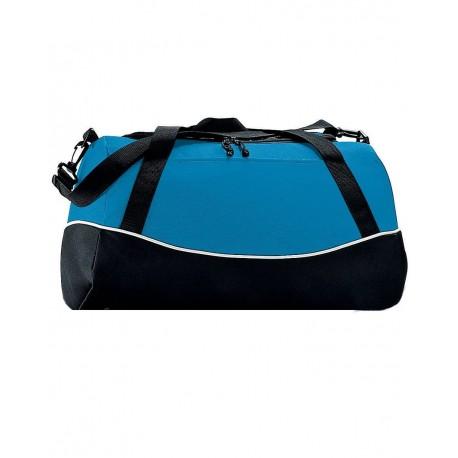 1910 Augusta Sportswear 1910 Tri-Color Sport Bag Power Blue/ Black/ White