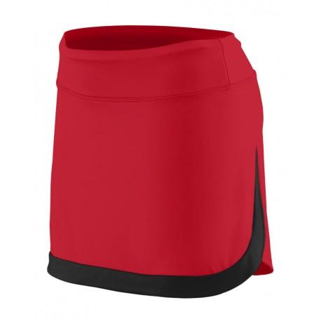 2411 Augusta Sportswear 2411 Girls' Action Color Block Skort BLACK/ BLACK