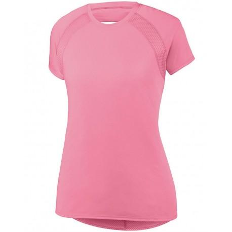 2432 Augusta Sportswear 2432 Women's Flounce Jersey POWER PINK