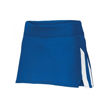 2441 Augusta Sportswear 2441 Girls Full Force Skort WHITE/ GRAPHITE