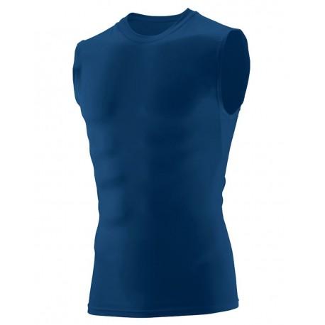 2602 Augusta Sportswear 2602 Hyperform Sleeveless Compression Shirt WHITE