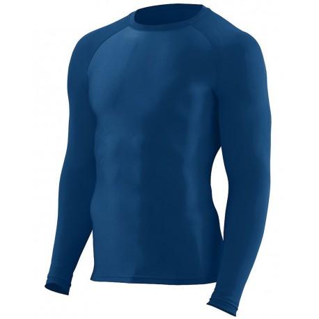 2604 Augusta Sportswear 2604 Hyperform Compression Long Sleeve Shirt WHITE