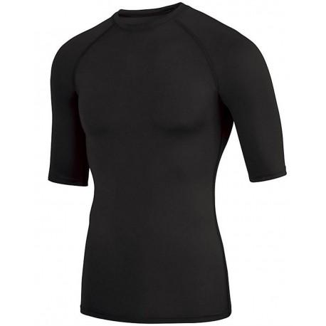 2606 Augusta Sportswear 2606 Hyperform Compression Half Sleeve Shirt White/ Graphite Print