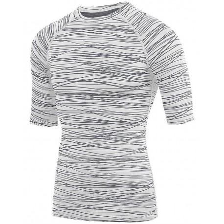 2607 Augusta Sportswear 2607 Youth Hyperform Compression Half Sleeve Shirt Black/ Red Print