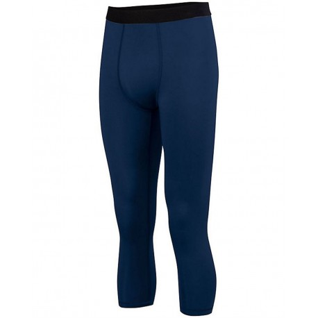 2619 Augusta Sportswear 2619 Youth Hyperform Compression Calf-Length Tight NAVY