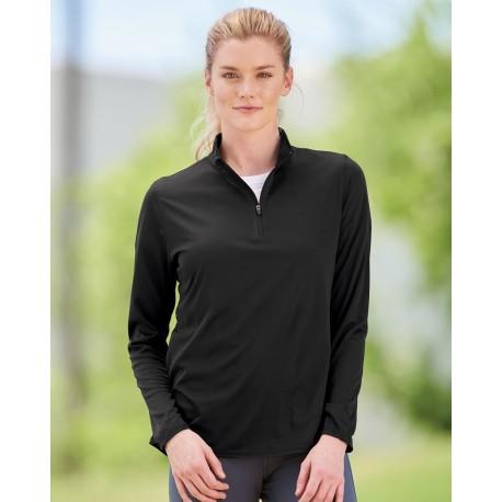 2787 Augusta Sportswear 2787 Women's Attain Color Secure Performance Quarter-Zip Pullover BLACK