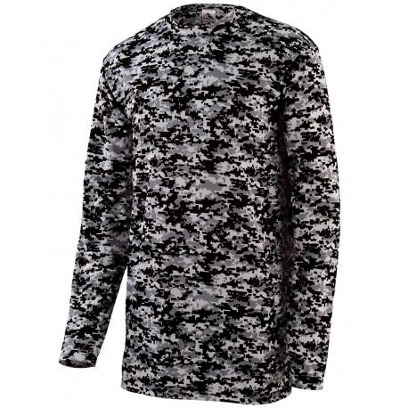 2788 Augusta Sportswear 2788 Digi Camo Wicking Long Sleeve T-Shirt WHITE DIGI
