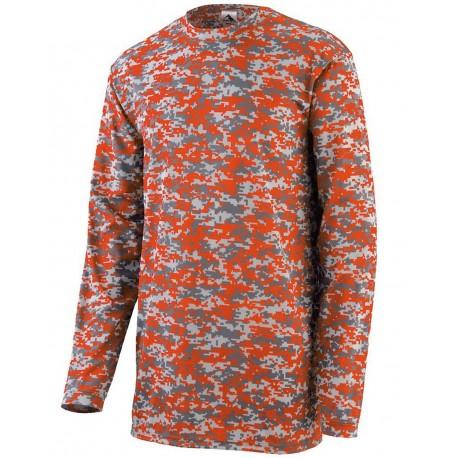 2789 Augusta Sportswear 2789 Youth Digi Camo Wicking Long Sleeve T-Shirt NAVY DIGI