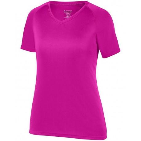 2793 Augusta Sportswear 2793 Girls' Attain Wicking Shirt WHITE