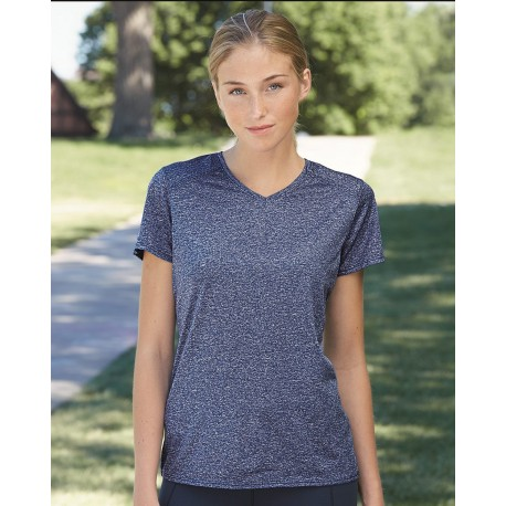2805 Augusta Sportswear 2805 Women's Kinergy Heathered Training T-Shirt ORANGE HEATHER