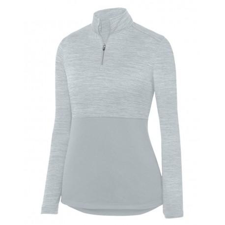 2909 Augusta Sportswear 2909 Women's Shadow Tonal Heather Quarter-Zip Pullover DARK GREEN