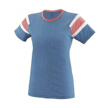 3014 Augusta Sportswear 3014 Girls' Fanatic T-Shirt Lime/ Slate/ White