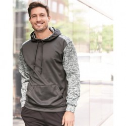 Badger 1461 Sport Tonal Blend Fleece Hooded Sweatshirt