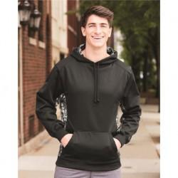 Badger 1464 Digital Camo Colorblock Performance Fleece Hooded Sweatshirt
