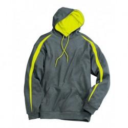Badger 1467 Pro Heather Fusion Performance Fleece Hooded Sweatshirt