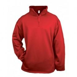 Badger 2480 Youth Quarter Zip Poly Fleece Pullover